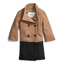 COACH F83990 Park Colorblock Bracelet Sleeve Coat