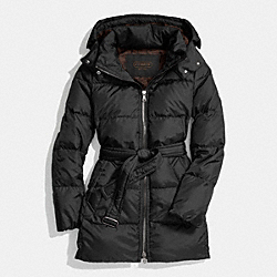 CENTER ZIP PUFFER - f83993 - BLACK