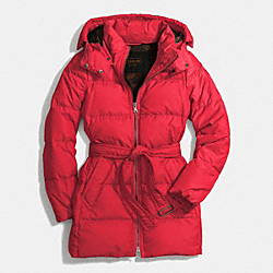 COACH F83993 - CENTER ZIP PUFFER JACKET FLASH RED