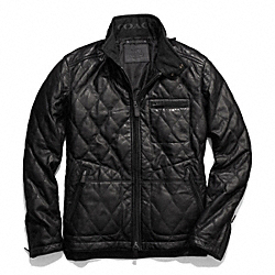 COACH F84002 - BOWERY LEATHER QUILTED JACKET BLACK