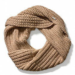 COACH F84014 Chunky Twisted Cowl CAMEL