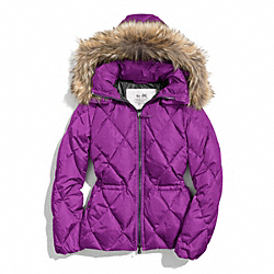 COACH F84047 Short Puffer Jacket