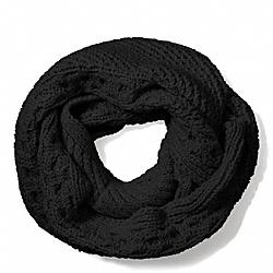COACH F84061 Aran Knit Infinity Scarf  BLACK