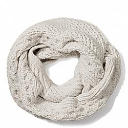 COACH F84061 Aran Knit Infinity Scarf  GRAY