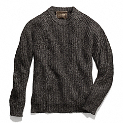 COACH F84089 Marled Crewneck Sweater CHARCOAL