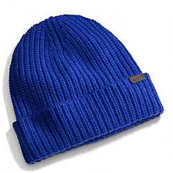 COACH F84090 Cashmere Solid Knit Hat COBALT