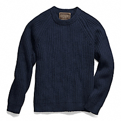 COACH F84092 Solid Crewneck Sweater