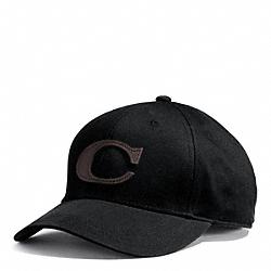 COACH F84213 Canvas Varsity C Hat  BLACK