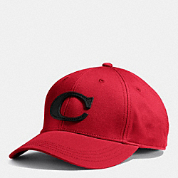 COACH F84213 Canvas Varsity C Hat  RED/BLACK