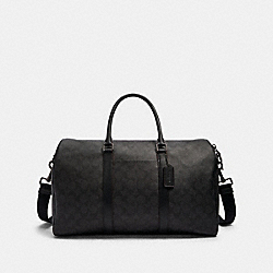 COACH F84216 Trekker Medium Carry-on In Signature Canvas JI/BLACK/BLACK/OXBLOOD