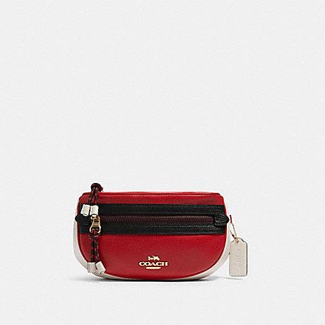 COACH F84230 VALE BELT BAG IM/BRIGHT-RED