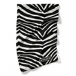 COACH F84265 Graphic Zebra Ombre Wrap BLACK