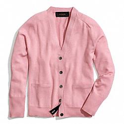 COACH F84276 Merino Boyfriend Cardigan DECO PINK