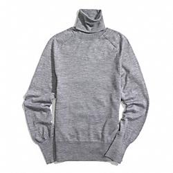 COACH F84280 Fine Gauge Polo Neck Sweater LIGHT GREY