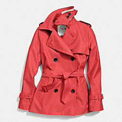 CLASSIC SHORT TRENCH - f84296 -  LOVE RED