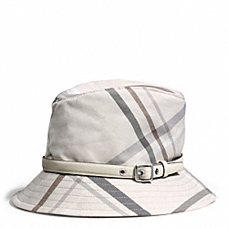 COACH F84376 - TATTERSALL FEDORA IVORY/MULTICOLOR
