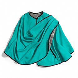 COACH F84384 - DOUBLE FACE WOOL WRAP CAPE ONE-COLOR