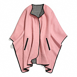 DOUBLE FACE WOOL BLANKET CAPE - f84391 - 30014