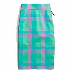 COACH BONNIE CHECK SEXY SKIRT - ONE COLOR - F84392