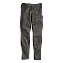 COACH LEATHER CIGARETTE TROUSER - ONE COLOR - F84404