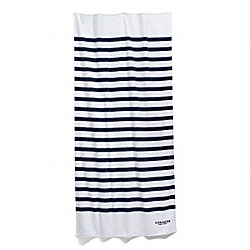 COACH F84549 Stripe Towel WHITE/NAVY