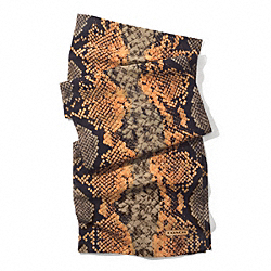 COACH F84563 Pop Python Oblong Scarf  BRIGHT MANDARIN