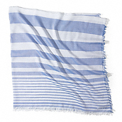 COACH F84578 Cabana Stripe Oversized Square Scarf  BLUE OXFORD