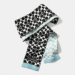 SIGNATURE C PONYTAIL SCARF - f84588 -  DUCK EGG BLUE