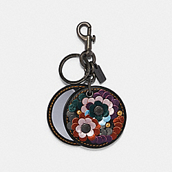COACH F84589 Mirror Bag Charm With Leather Sequins BK/MULTI