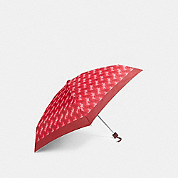 COACH F84671 - MINI UMBRELLA WITH HORSE AND CARRIAGE PRINT BRIGHT RED/CHERRY