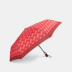 COACH F84672 Umbrella With Horse And Carriage Print BRIGHT RED/CHERRY
