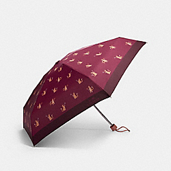COACH F84673 Mini Umbrella In Signature Party Cat Print CHESTNUT PINK