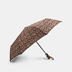 UMBRELLA IN SIGNATURE PARTY ANIMALS PRINT - F84675 - KHAKI/PINK