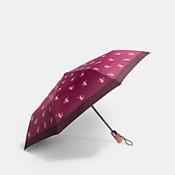 UMBRELLA IN SIGNATURE PARTY CAT PRINT - F84680 - CHESTNUT PINK
