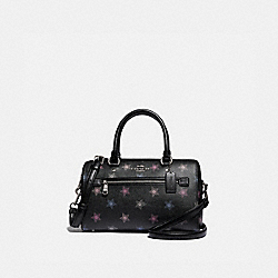 COACH F84722 - ROWAN SATCHEL WITH DOT STAR PRINT SV/BLACK MULTI