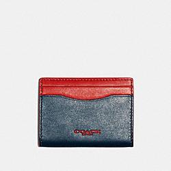 COACH F84744 Magnetic Card Case In Colorblock AEGEAN SPORT RED
