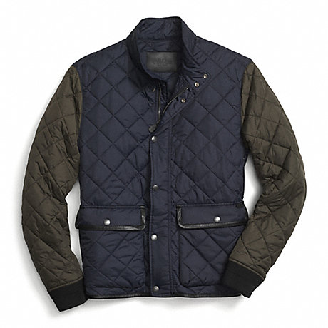 COACH F84851 - QUILTED JACKET - NAVY/OLIVE - COACH MEN : coach quilted coat - Adamdwight.com