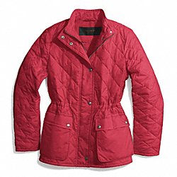 COACH F84993 - DIAMOND QUILTED HACKING JACKET LOGANBERRY