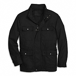COACH F85008 Coated Field Jacket BLACK