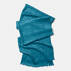 COACH F85009 - SIGNATURE C STOLE TEAL