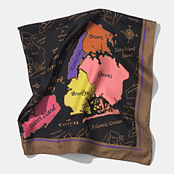COACH F85016 Silk Borough Scarf  MULTICOLOR
