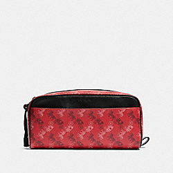 COACH F85038 Dopp Kit With Horse And Carriage Print QB/BRIGHT RED