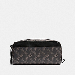 COACH F85038 Dopp Kit With Horse And Carriage Print QB/BLACK MULTI