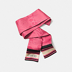 COACH F85041 Horse And Carriage Ponytail Scarf LOGANBERRY