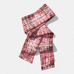COACH F85045 Printed Tweed Ponytail Scarf  ROSE PETAL
