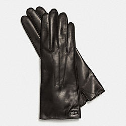 COACH F85066 Leather Basic Glove  BLACK