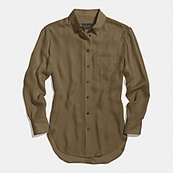 COACH F85070 Silk Boy Shirt OLIVE FATIGUE