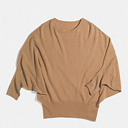 COACH F85082 Cashmere Balloon Sleeve Sweater CAMEL