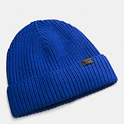 COACH F85140 Rib Knit Hat COBALT