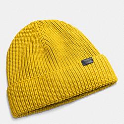 COACH F85140 Rib Knit Hat GOLD